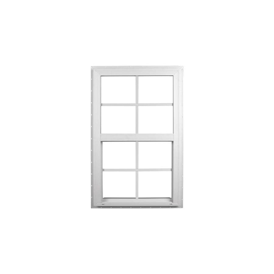 Ply Gem Windows 2600 Series Vinyl Double Pane Single Strength Single Hung Window (Rough Opening: 28-in x 38-in; Actual: 27.5-in x 37.5-in)