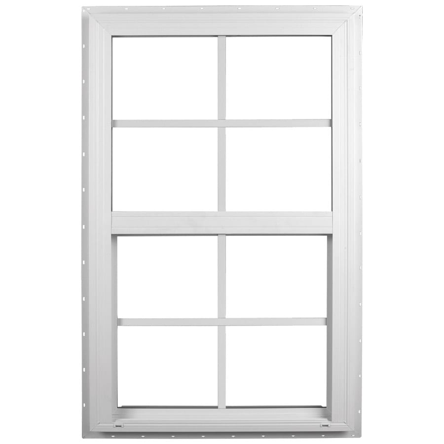 Ply Gem Windows 2600 Sh Vinyl Double Pane Single Strength Single Hung Window (Rough Opening: 36-in x 38-in; Actual: 35.5-in x 37.5-in)