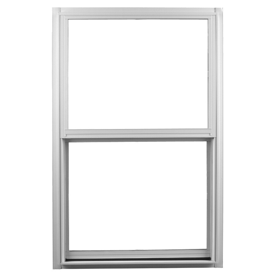 Ply Gem 1500 Series Aluminum Double Pane Single Strength Single Hung Window (Rough Opening: 24-in x 48-in; Actual: 23.25-in x 47.25-in)