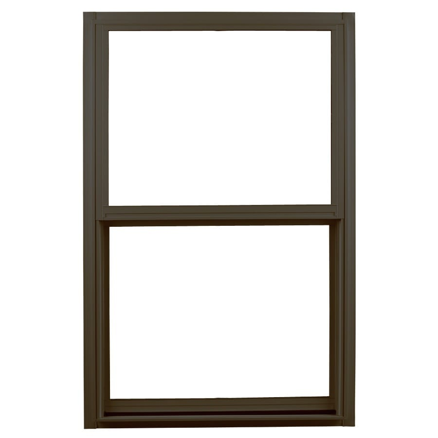 Ply Gem 1500 Series Aluminum Double Pane Single Strength Egress Single Hung Window (Rough Opening: 36-in x 60-in; Actual: 35.25-in x 59.25-in)