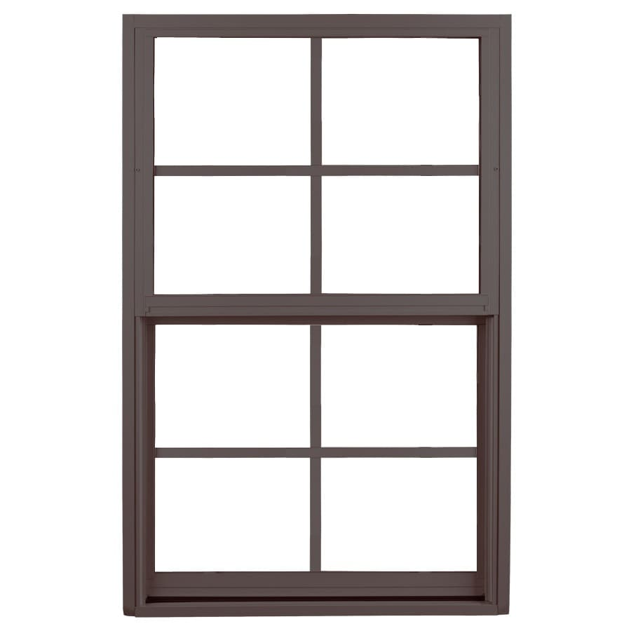 Ply Gem 1500 Series Aluminum Double Pane Single Strength Single Hung Window (Rough Opening: 26.5-in x 38.375-in; Actual: 25.5-in x 37.375-in)