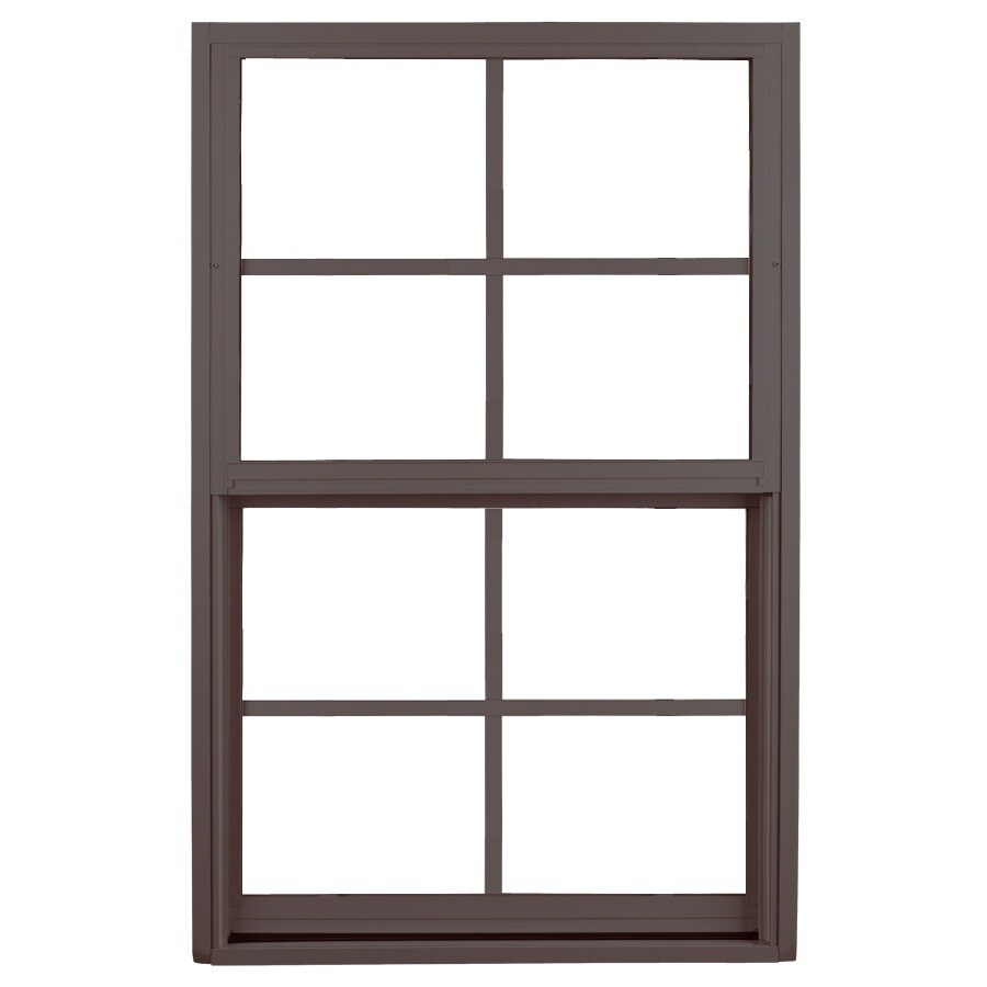 Ply Gem 1500 Series Aluminum Double Pane Single Strength Single Hung Window (Rough Opening: 53.125-in x 38.375-in; Actual: 52.125-in x 37.375-in)