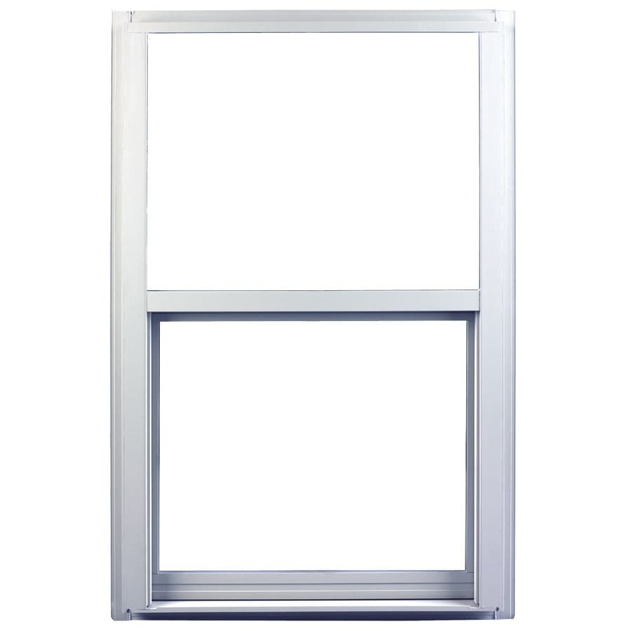 Ply Gem 1600 Series Aluminum Double Pane Single Strength Single Hung Window (Rough Opening: 24-in x 36-in; Actual: 23.25-in x 35.25-in)