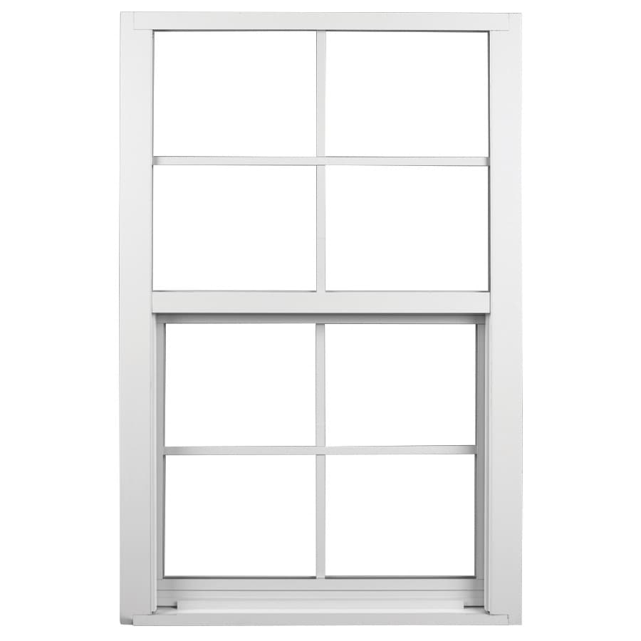 Ply Gem 1600 Series Aluminum Double Pane Single Strength Egress Single Hung Window (Rough Opening: 53.125-in x 50.625-in; Actual: 52.125-in x 49.625-in)