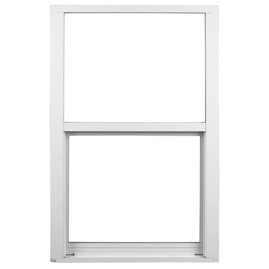Ply Gem 1600 Series Aluminum Double Pane Single Strength Single Hung Window (Rough Opening: 26.5-in x 38.375-in; Actual: 25.5-in x 37.375-in)