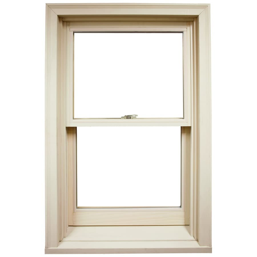 Shop ply gem windows 4100 series wood double pane single for New construction wood windows