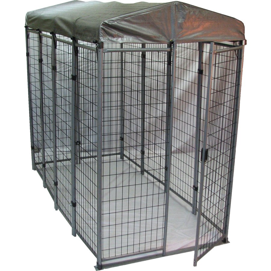 Options Plus 8-ft x 4-ft x 6-ft Outdoor Dog Kennel Box Kit