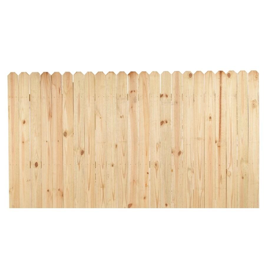 shop pressure treated pine wood fence panel common 8 ft. Black Bedroom Furniture Sets. Home Design Ideas
