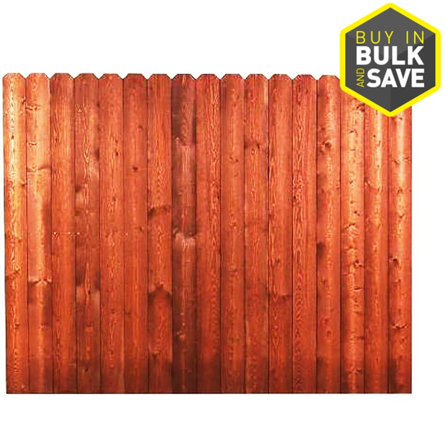 Severe Weather (Common: 6-ft x 8-ft; Actual: 6-ft x 8-ft) Pressure Treated Pine Privacy Fence Panel