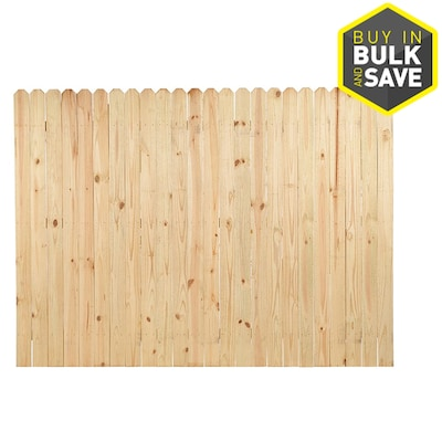 Actual 6 Ft X 8 Pressure Treated Pine Dog Ear Privacy Fence Panel