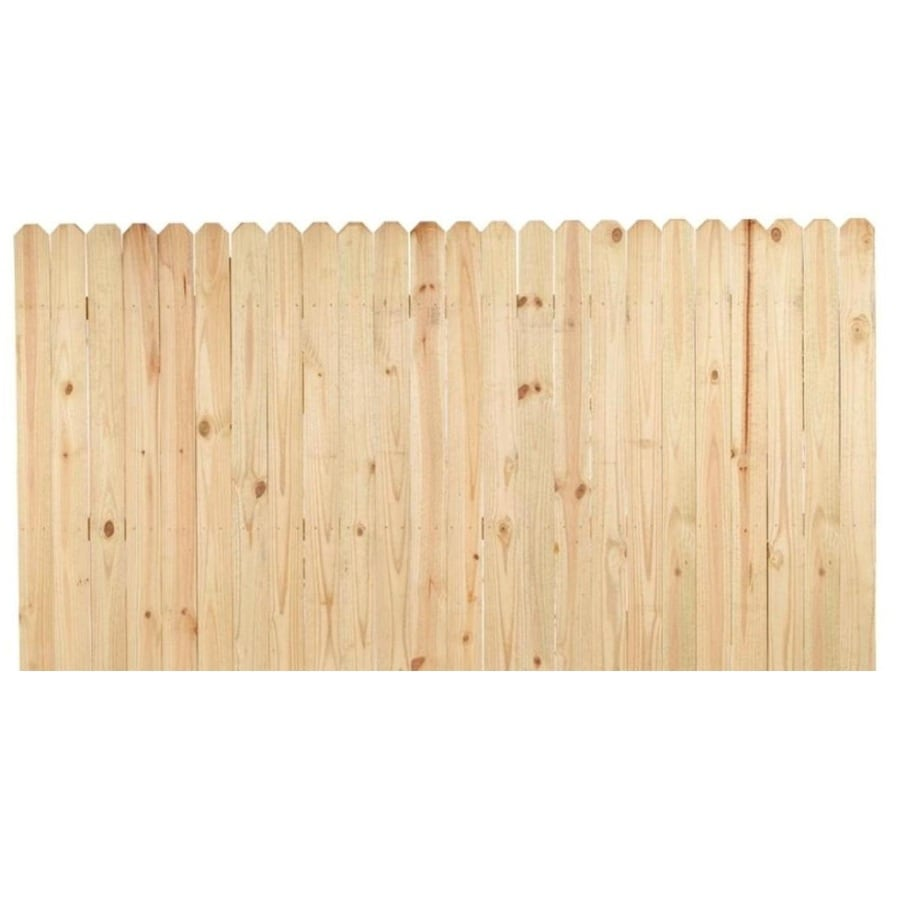 Severe Weather (Common: 4-ft x 8-ft; Actual: 4-ft x 8-ft) Pressure Treated Pine Semi-privacy Fence Panel