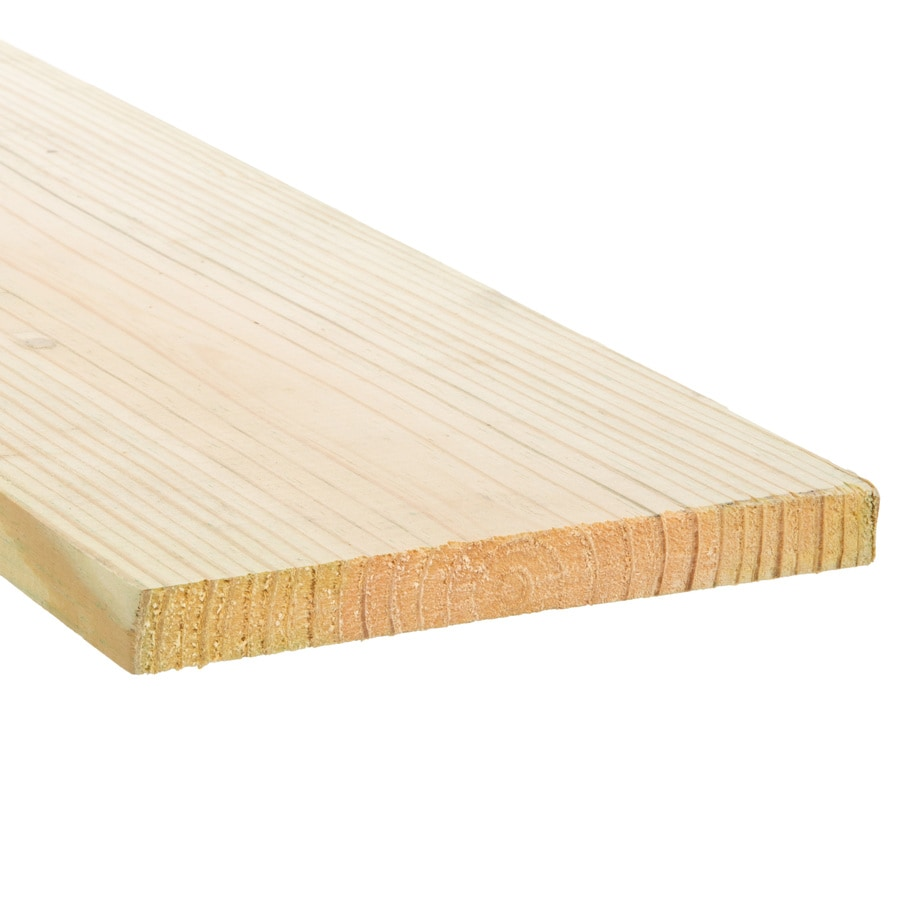 Severe Weather (Common: 1-in x 8-in x 12-ft; Actual: 0.75-in x 7.25-in x 12-ft) Square Pressure Treated Unfinished Pine Board