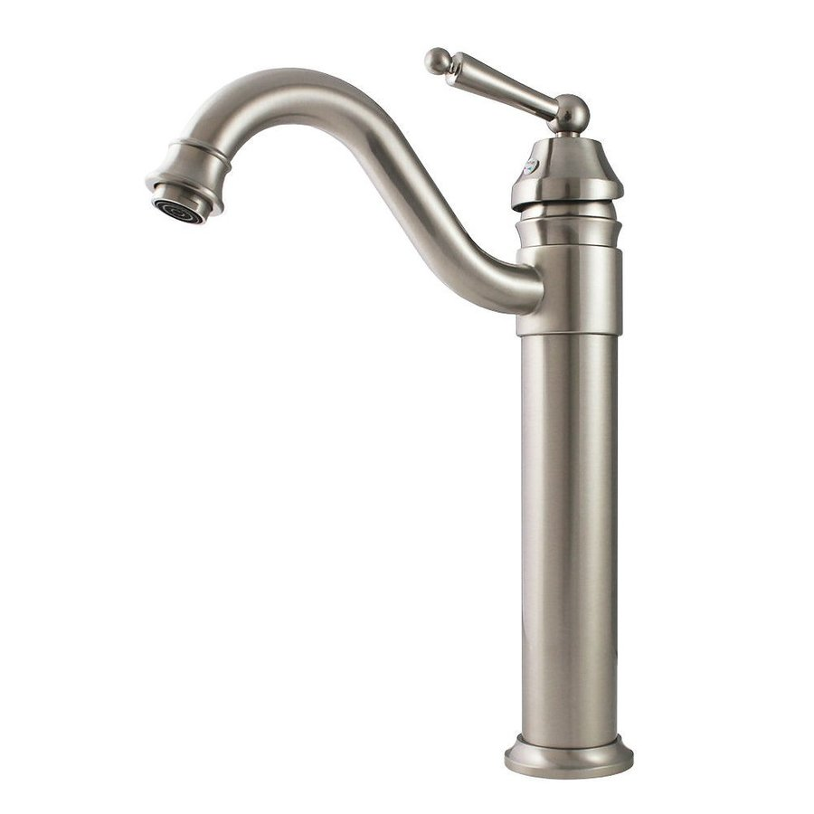 Shop Kokols Usa Brushed Nickel 1 Handle Vessel Bathroom Faucet At