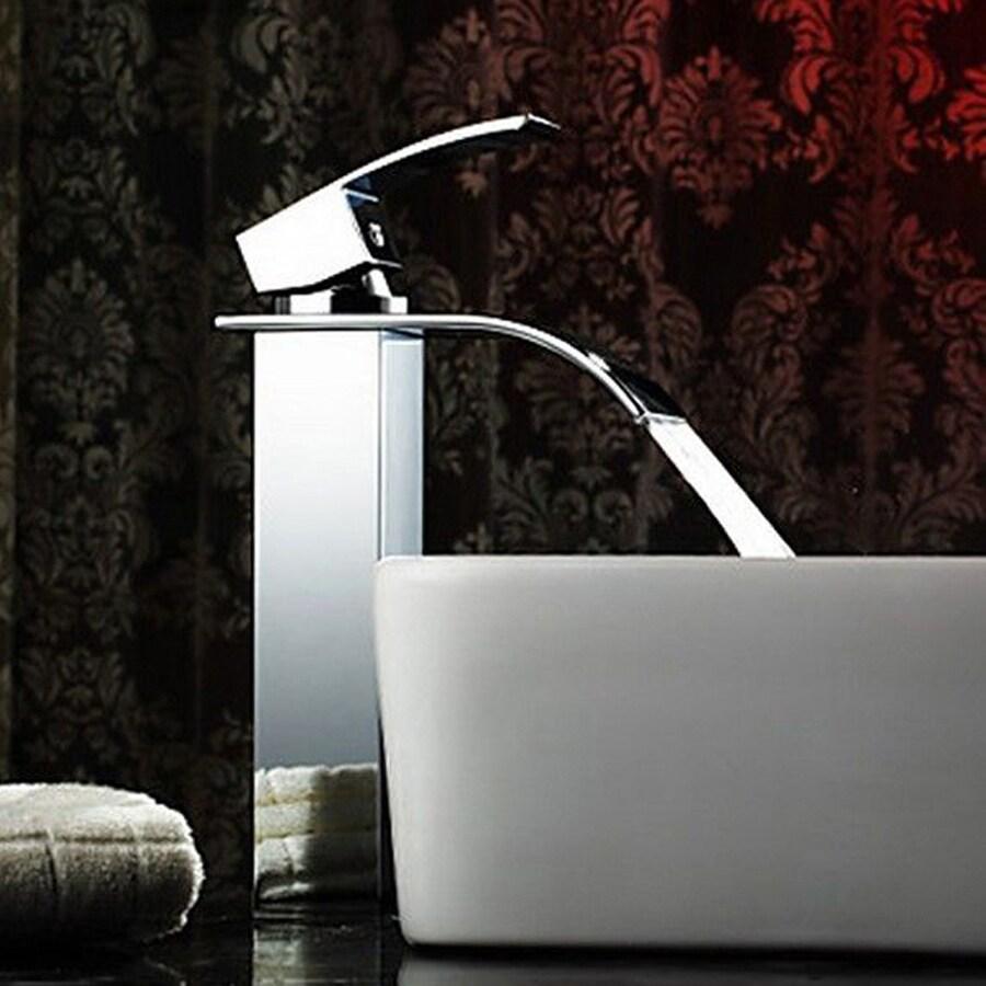 Kokols USA Polished Chrome 1-Handle Vessel Bathroom Faucet