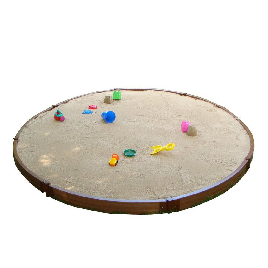 Shop Frame It All 126-in x 126-in Brown Round Composite Sandbox at ...