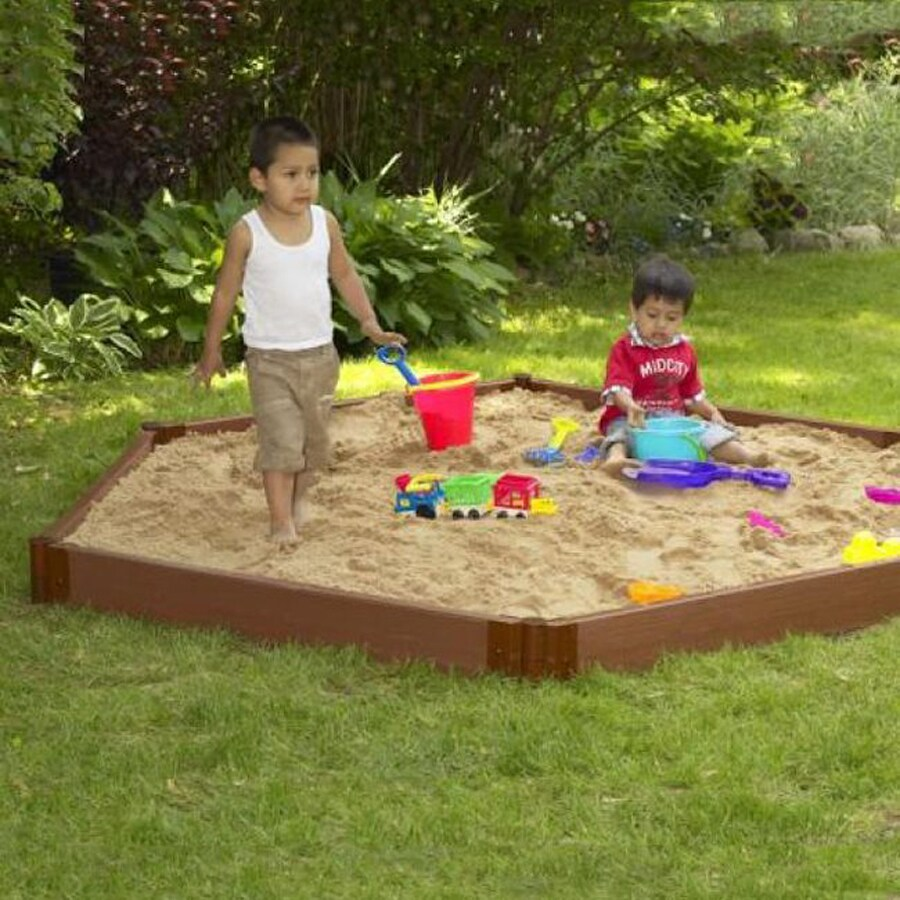 Frame It All 96-in x 84-in Brown Hexagon Composite Sandbox