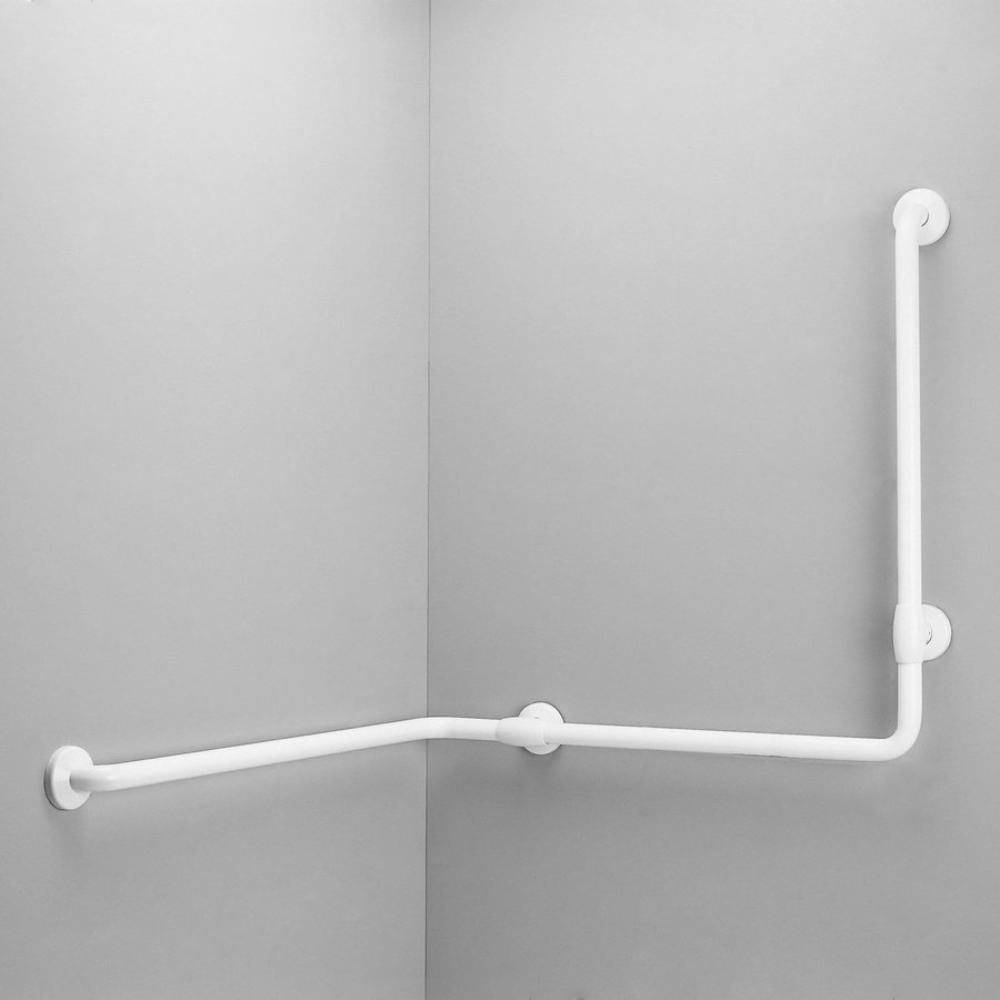 Ponte Giulio Usa Glossy White Wall Mount Grab Bar At Lowes Com