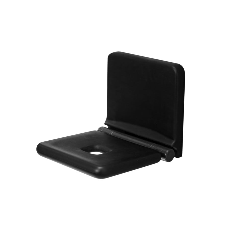 Ponte Giulio USA Glossy Black Plastic Wall Mount Shower Seat