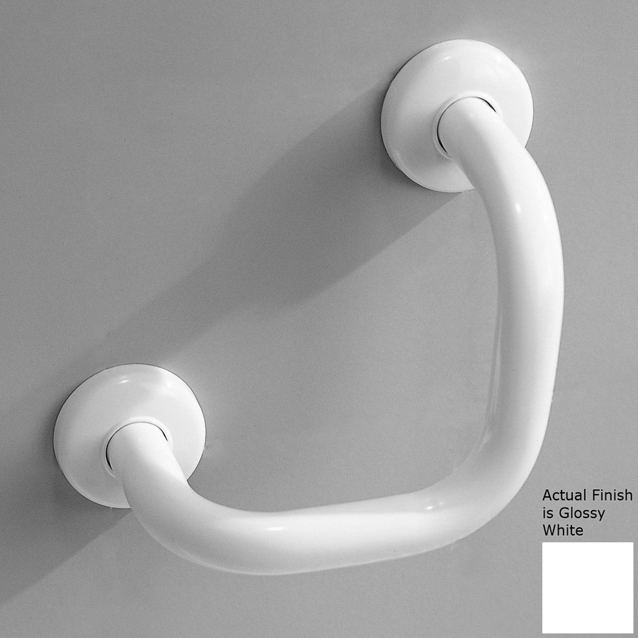 Ponte Giulio USA 7.06-in Glossy White Wall Mount Grab Bar