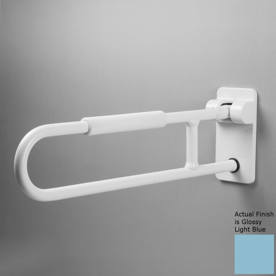 Ponte Giulio USA Glossy Light Blue Wall Mount Grab Bar