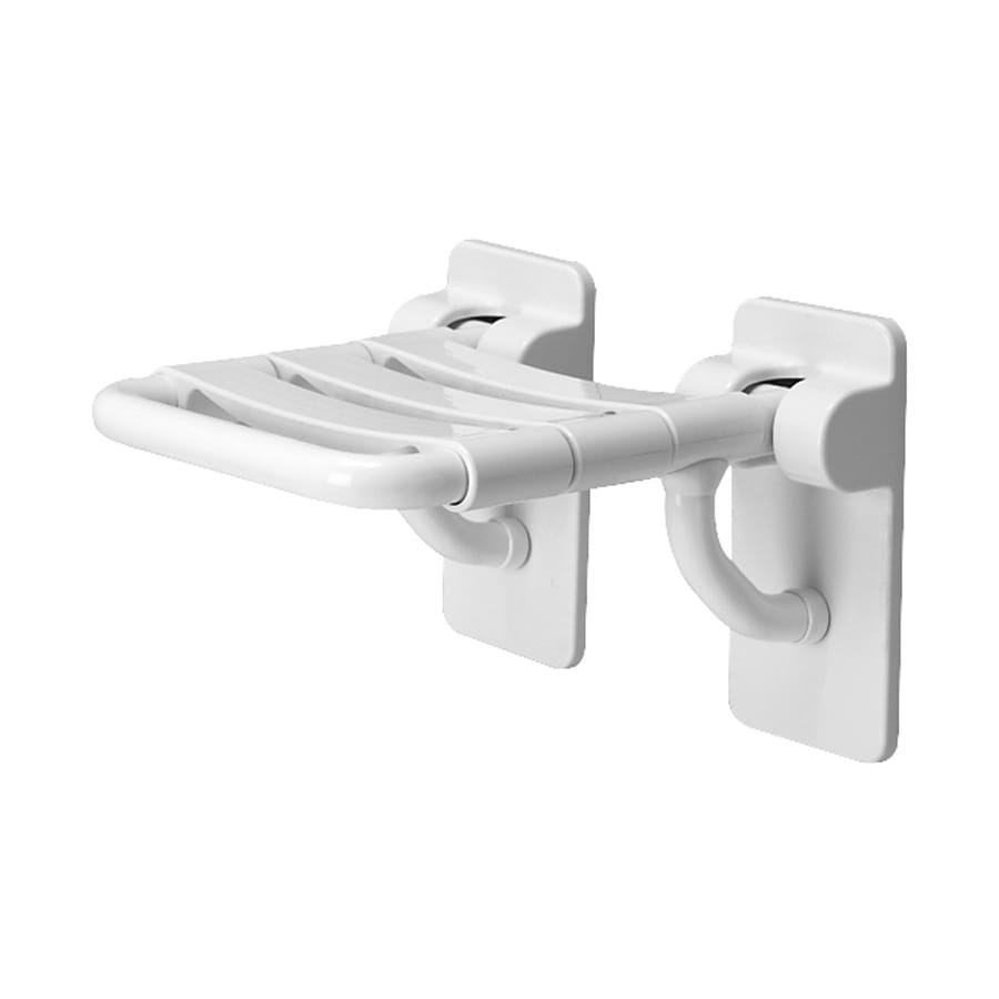 Ponte Giulio USA Glossy White Plastic Wall Mount Shower Seat