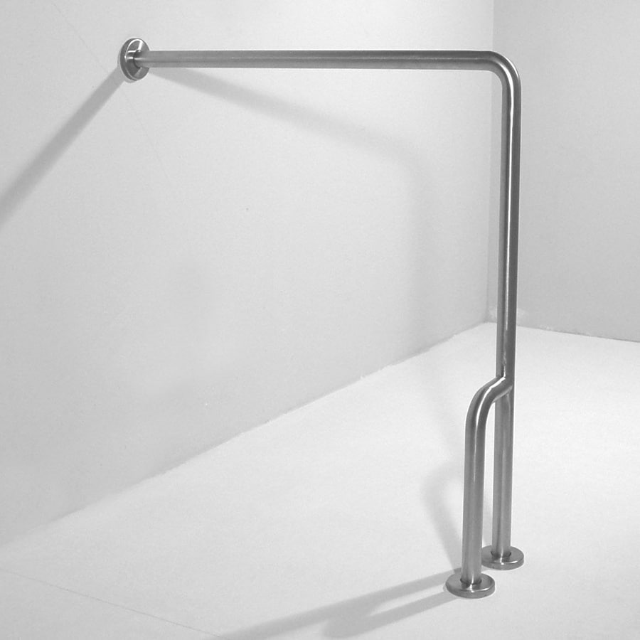 Shop Ponte Giulio USA Satin Steel Floor-Mounted Grab Bar at Lowes.com