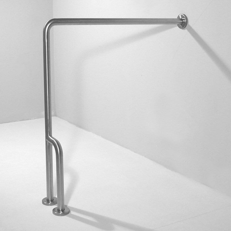 Ponte Giulio Usa Satin Steel Floor Mounted Grab Bar At