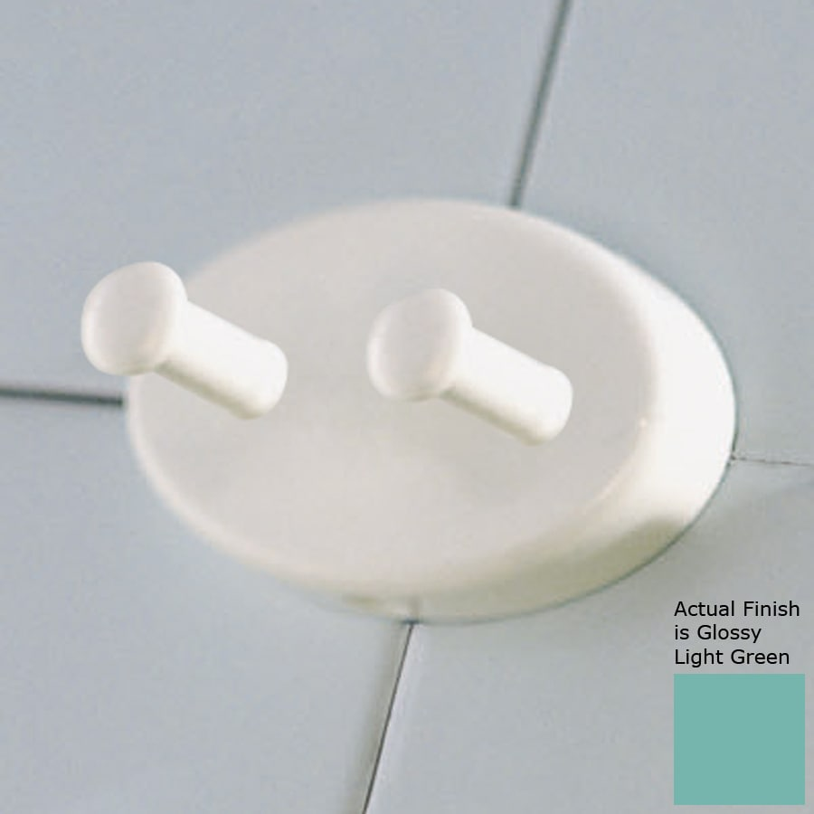 Ponte Giulio USA 2-Hook Glossy Light Green Robe Hook