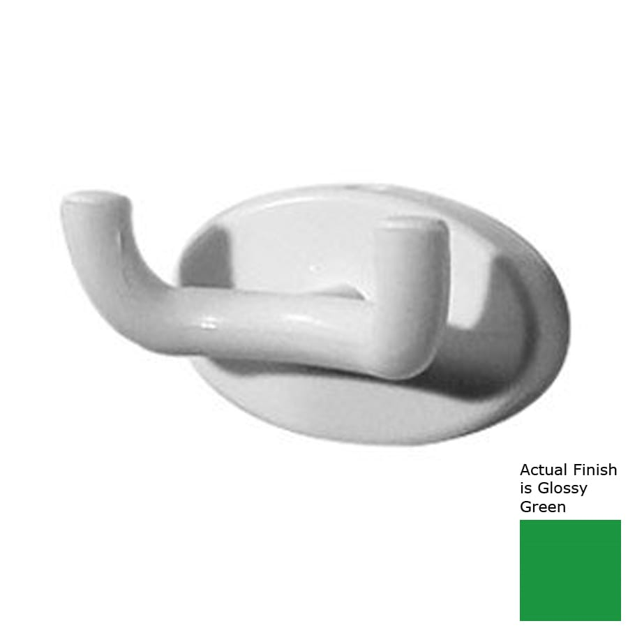 Ponte Giulio USA 2-Hook Glossy Green Towel Hook