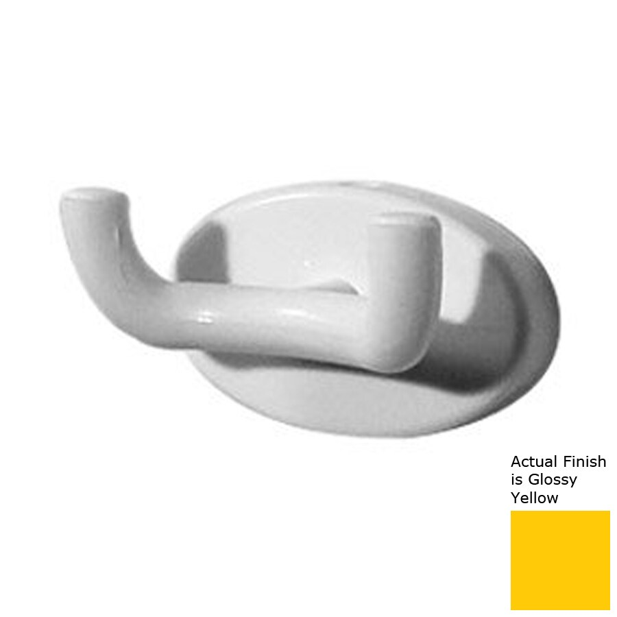 Ponte Giulio USA 2-Hook Glossy Yellow Towel Hook