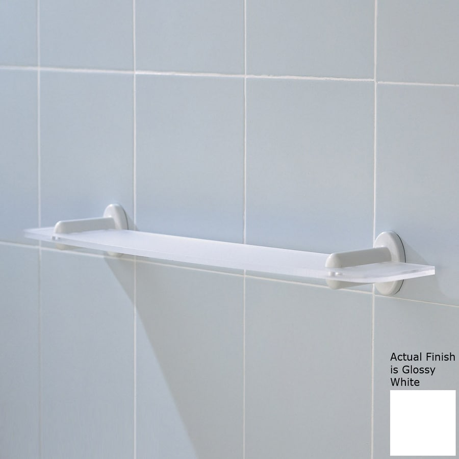 Shop Ponte Giulio Usa Glossy White Plastic Bathroom Shelf At