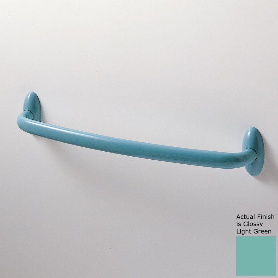 Ponte Giulio USA Urbinati Glossy Light Green Single Towel Bar (Common: 12-in; Actual: 13.375-in)