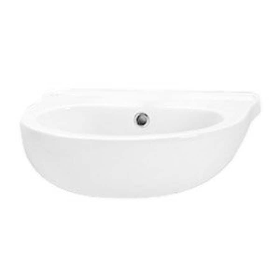 Ponte Giulio USA Bagno Cucciolo Enamel Wall-Mount Semi-Circle Bathroom Sink with Overflow