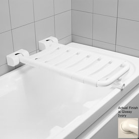 Ponte Giulio USA Glossy Ivory Plastic Wall Mount Shower Seat