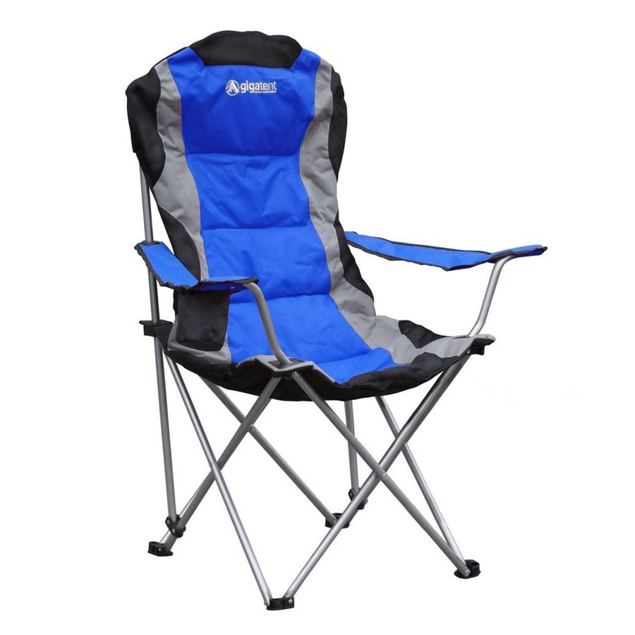 Shop Gigatent Blue Steel Folding Camping Chair At Lowes Com
