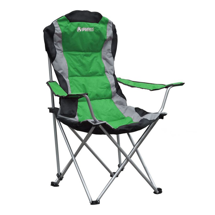 Gigatent Green Steel Folding Camping Chair