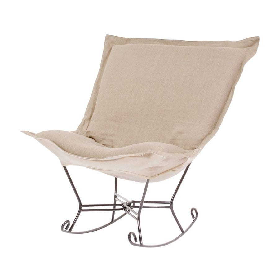 Tyler Dillon Prairie Linen Natural Linen Rocking Chair