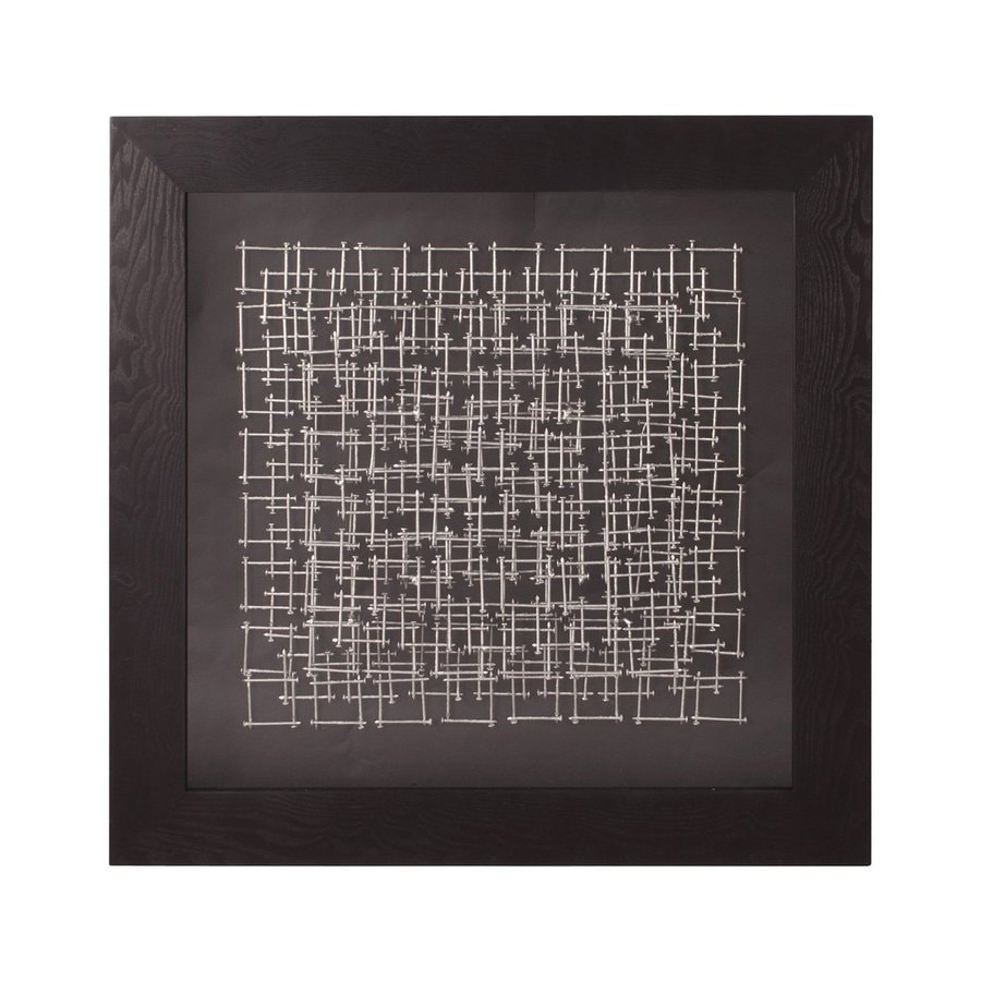 Tyler Dillon 32-in W x 32-in H Framed Metal Silver Nails 3D Wall Art
