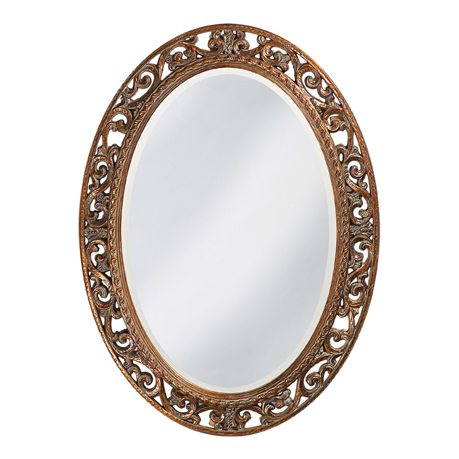 Shop Tyler Dillon Suzanne Antique Bronze Beveled Oval Wall ...