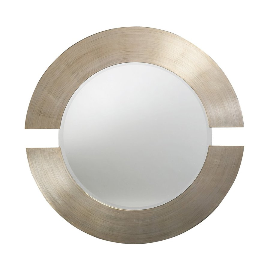 Tyler Dillon Orbit Silver Leaf Beveled Round Wall Mirror