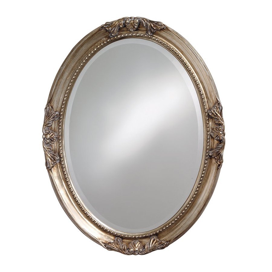 Tyler Dillon Ann Silver Leaf Beveled Oval Wall Mirror