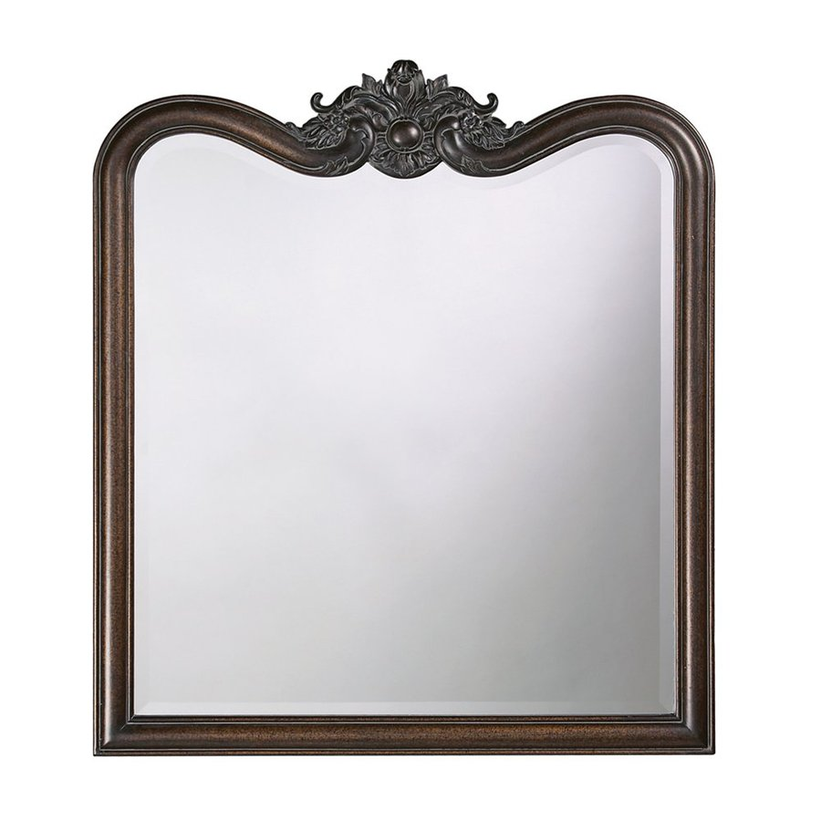 Tyler Dillon Eliza 34-in x 38-in Antique Bronze Beveled Arch Framed Traditional Wall Mirror