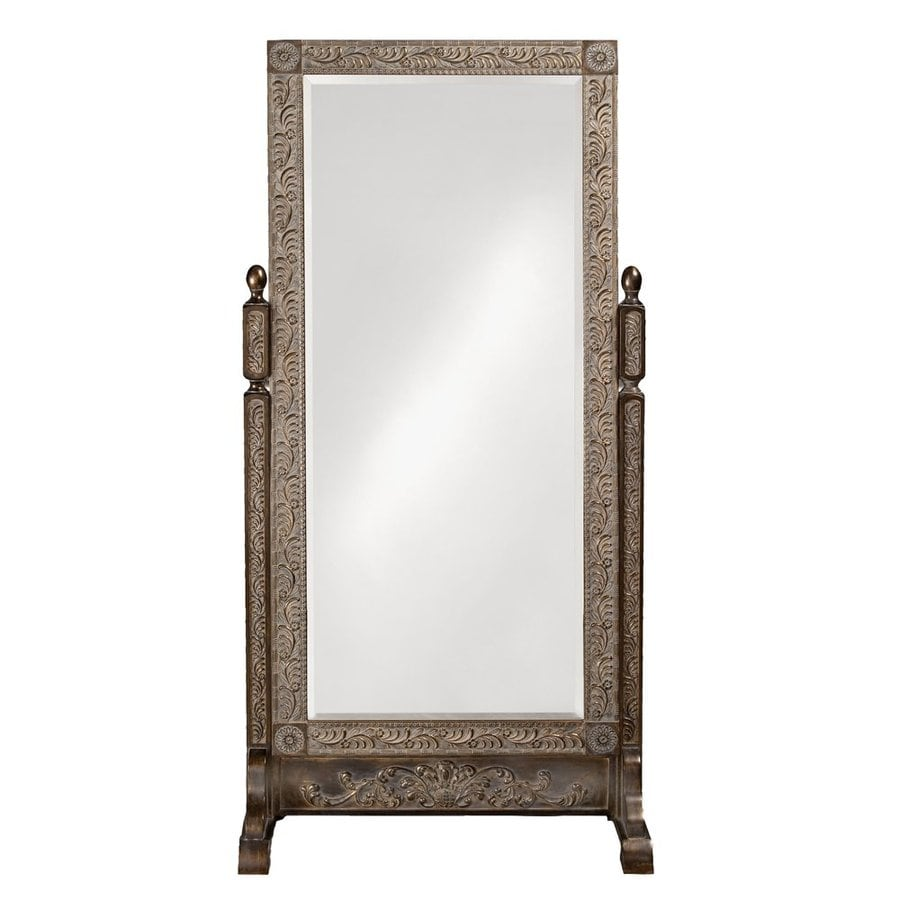 Floor Mirror Lowes: Tyler Dillon Vivian Black/Gold Beveled Floor Mirror At