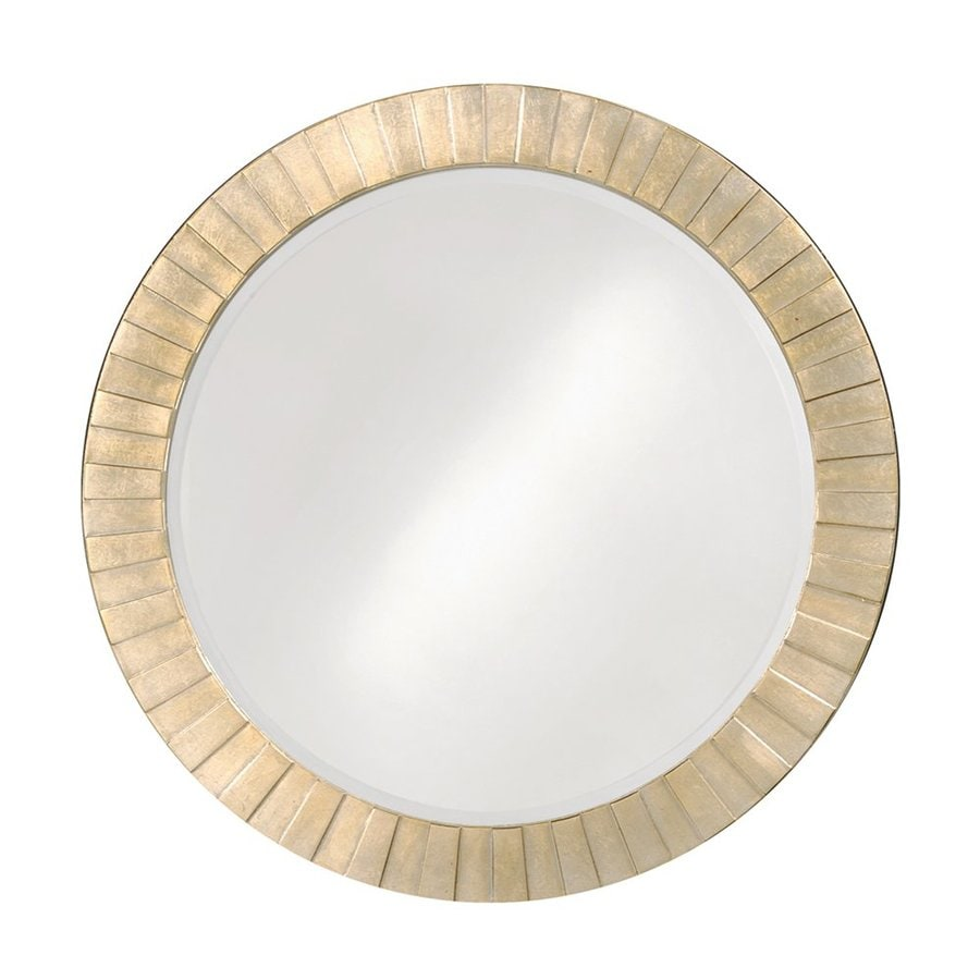 Tyler Dillon Serenity 34-in x 34-in Silver Leaf Beveled Round Framed Transitional Wall Mirror