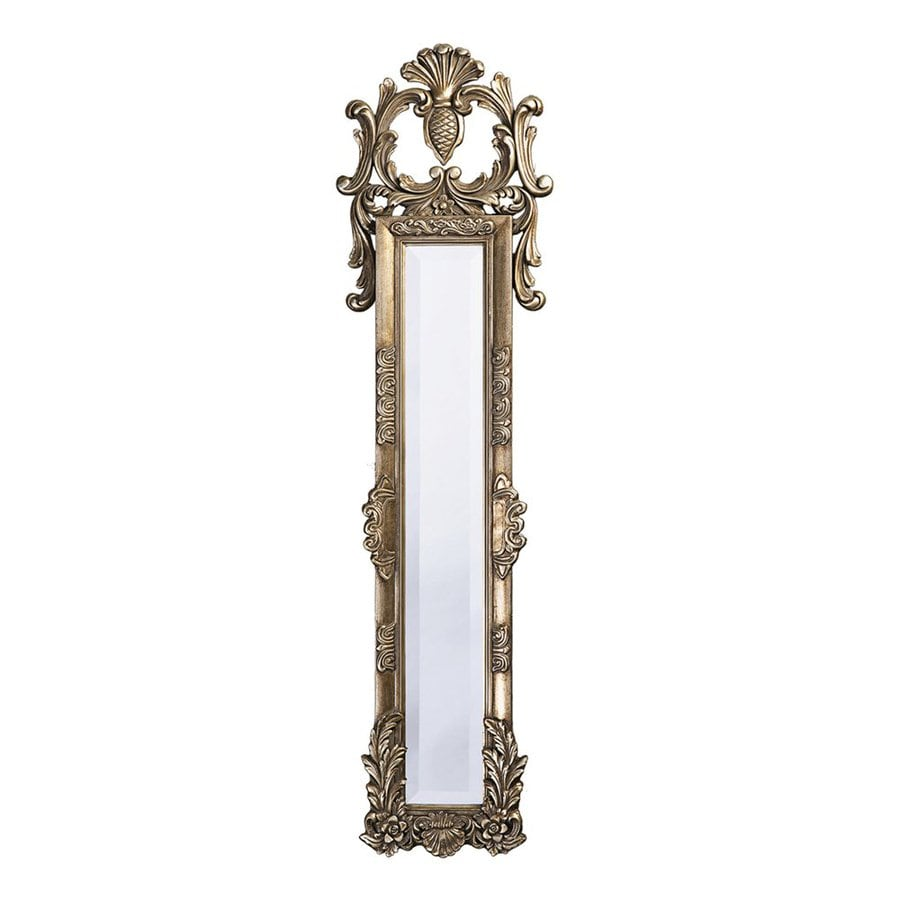 Tyler Dillon Thackery 11-in x 58-in Silver Leaf Beveled Rectangle Framed Venetian Wall Mirror