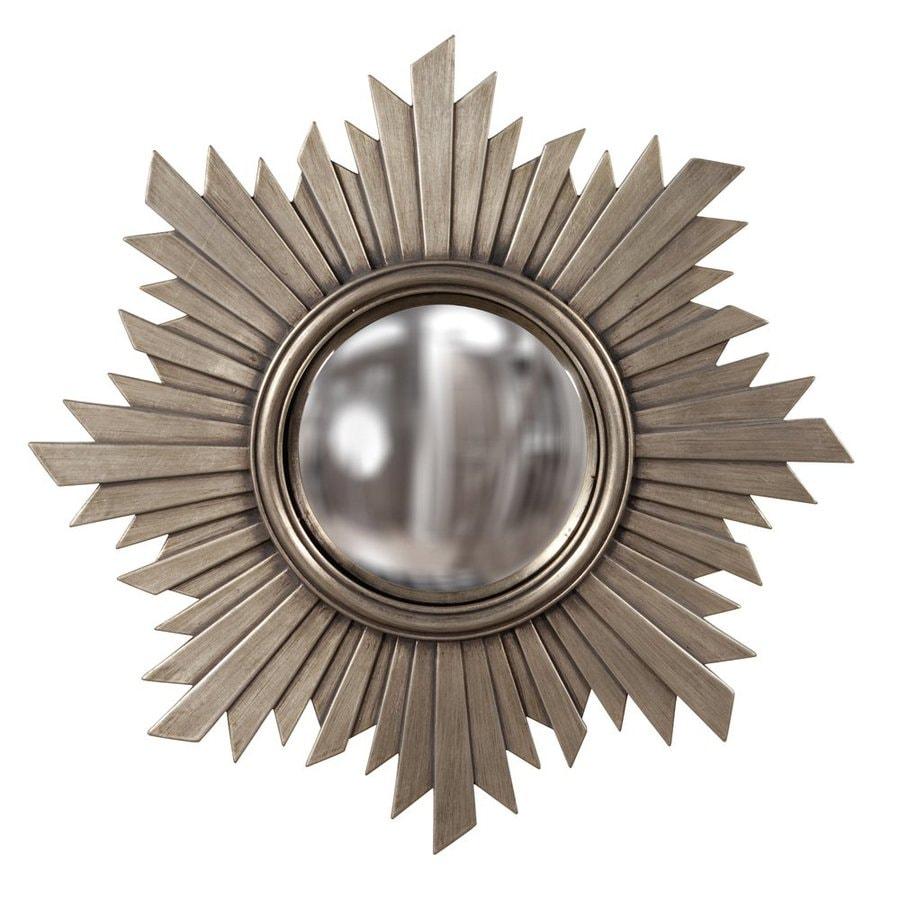 Tyler Dillon Euphoria Nickel Polished Round Wall Mirror