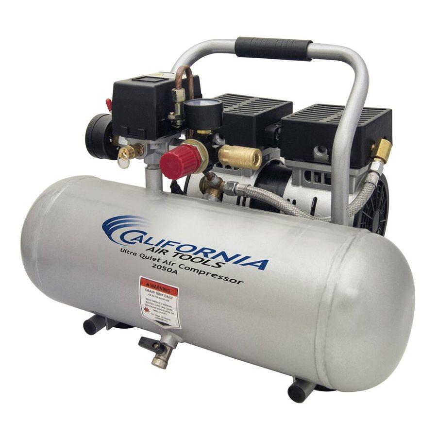 California Air Tools Ultra Quiet 0.5-HP 2-Gallon 120-PSI 110-Volt Horizontal Stationary Electric Air Compressor