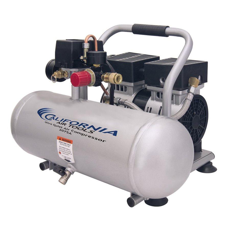 California Air Tools Ultra Quiet 0.75-HP 2-Gallon 120-PSI 110-Volt Horizontal Stationary Electric Air Compressor