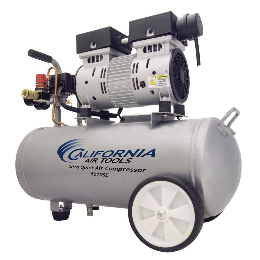 California Air Tools Ultra Quiet 1-HP 5.5-Gallon 120-PSI 110-Volt Horizontal Portable Electric Air Compressor