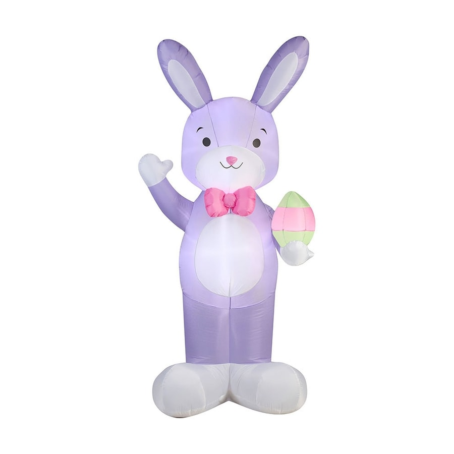 J. Marcus Inflatable Waving Easter Bunny Outdoor Easter Decorations